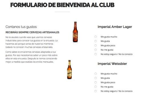 Bierful_Formulario de Bienvenida al club